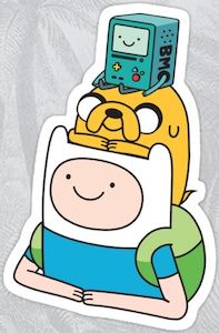 Adventure Time Finn And Jake And BMO Sticker