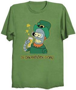Futurama Bender St Patrick's Day T-Shirt