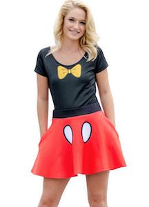 Minnie Mouse Bodysuit And Skirt