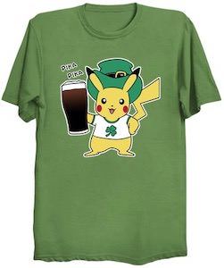 Pikachu St Patrick's Day T-Shirt