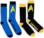 Star Trek Captain And Logical Socks