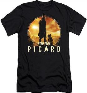 Star Trek Picard And Dog T-Shirt