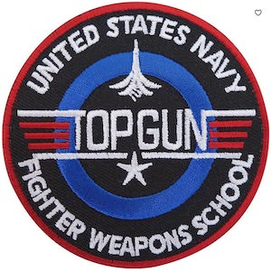 Top Gun Navy Clothing Patch