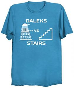 Doctor Who Dalek VS Stairs T-Shirt