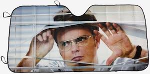 Dwight Staring At You Car Sunshade