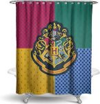 Harry Potter Hogwarts House Colors Logo Shower Curtain