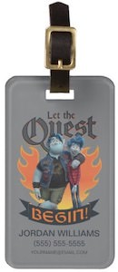 Onward Let The Quest Begin Luggage Tag