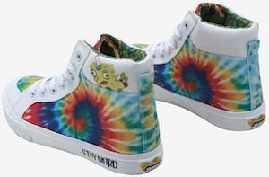 SpongeBob Tie Die Hi-Top Sneakers