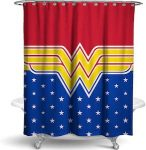 Wonder Woman Logo Shower Curtain