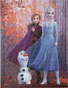 Frozen Anna, Elsa, And Olaf Fall Puzzle