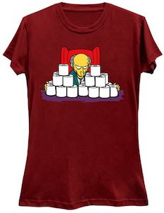 The Simpsons Mr. Burns Toilet Paper T-Shirt