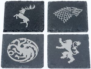 Slate Game of Thrones Coaster Set
