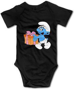 Smurf Present Baby Bodysuit