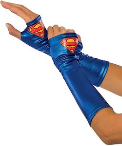 Supergirl Costume Gloves
