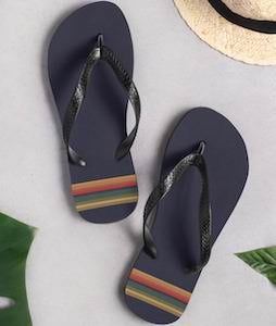 Doctor Who Striped Flip Flops