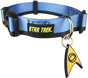 Blue Star Trek Dog Collar