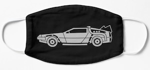 Back To The Future DeLorean Face Mask