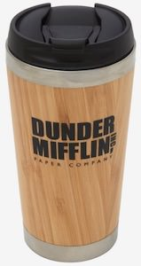 The Office Bamboo Dunder Mifflin Travel Mug