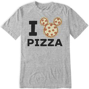 Mickey I Love Pizza T-Shirt