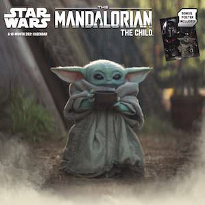 Star Wars 2021 Baby Yoda Wall Calendar