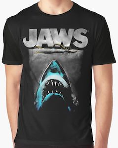Classic Jaws Dark Themed T-Shirt