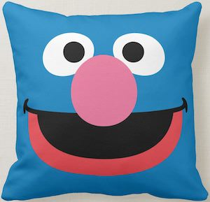 Sesame Street Grover Throw Pillow