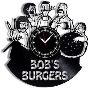 Record Bob's Burgers Wall Clock