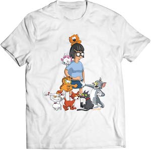 Bob's Burgers Tina The Cat Lady T-Shirt