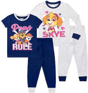 2 Girls PAW Patrol Pajama Sets