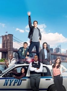 Brooklyn Nine-Nine Police Car And Cast Poster