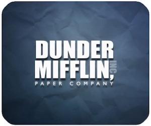 Dunder Mifflin Logo Mousepad