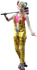 Gold Harley Quinn Costume Overalls