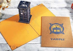 3D Tardis Doctor Who Greeting Card