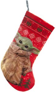 Red Baby Yoda Stocking