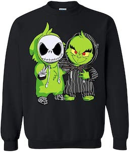 The Grinch And Jack Skellington Fun Sweater