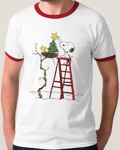 Woodstock's Christmas Tree Christmas T-Shirt