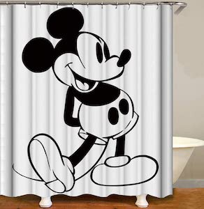 Black And White Mickey Mouse Shower Curtain