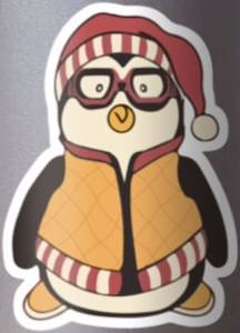 Hugsy The Penguin Sticker