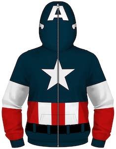 Kids Captain America Costume Hoodie