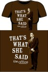 The office that's what she said t-shirt