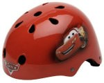 Lightning McQueen bicycle helmet and protective gear ready for the kids safety.