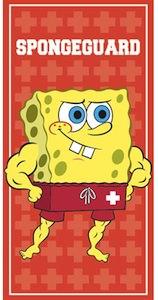 Spongeguard the lifeguard version of Spongebob Squarepants as beach towel