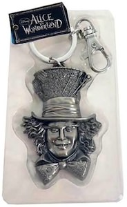 Johnny Depp as Mad Hatter on this pewter key chain