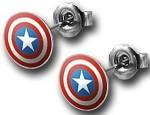 Captain America shiel earrings