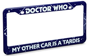 My Other Car Is A Tardis License Plate Frame