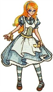 Alice In Wonderland Clothing Patch