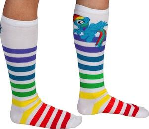 5001d415bae My Little Pony Rainbow Dash Striped Socks