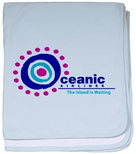 Lost Oceanic Airlines Baby Blanket