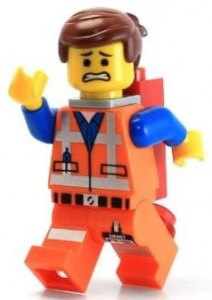 Lego Movie Emmet With Piece of Resistance Minifigure