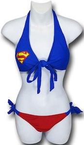 Superman Wrap Halter Bikini set
